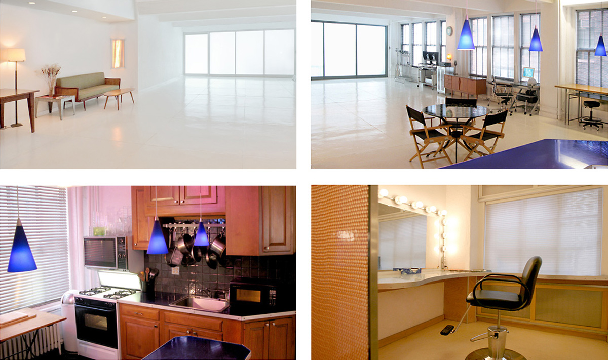 Meeting, Kitchen and Wardrobe/Makeup Room